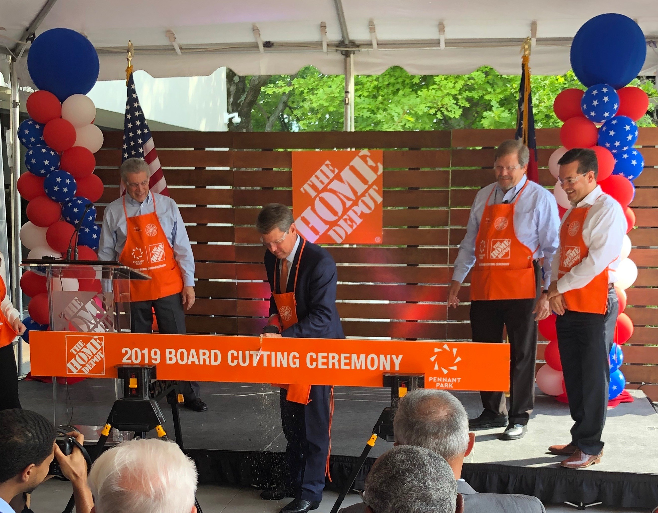 Governor Brian Kemp joins The Home Depot at the Pennant Park